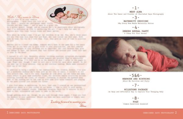 Newborn Magazine Welcome Packet Template {1st & 2nd Edition} – All ...