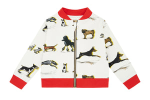 Dog Family, Organic Cotton Bomber Jacket by Vild, Children clothes, Vild, WondrousTheatre,