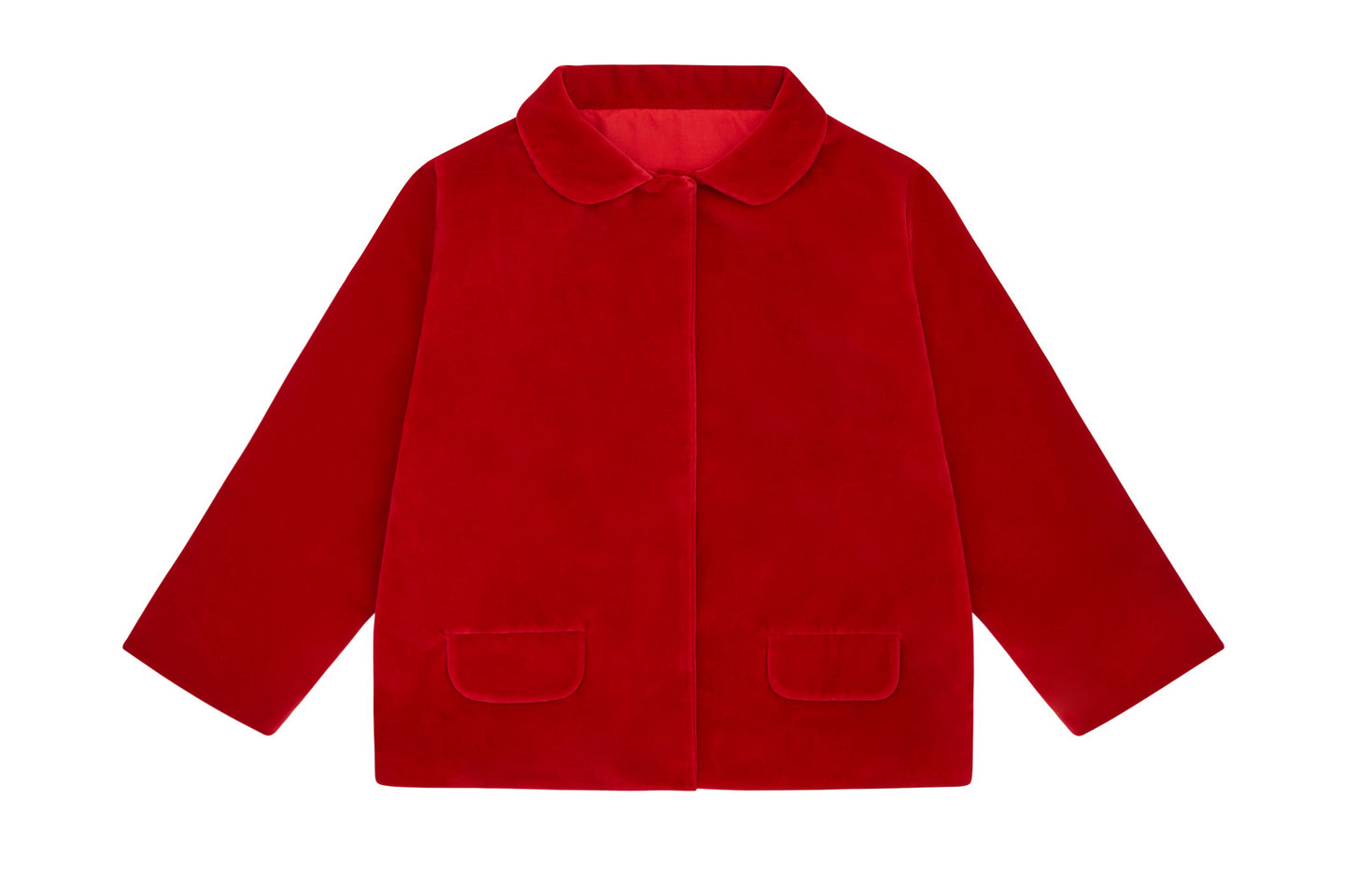 Organic Cotton Red Velvet Jacket by Vild, Children clothes, Vild, WondrousTheatre,