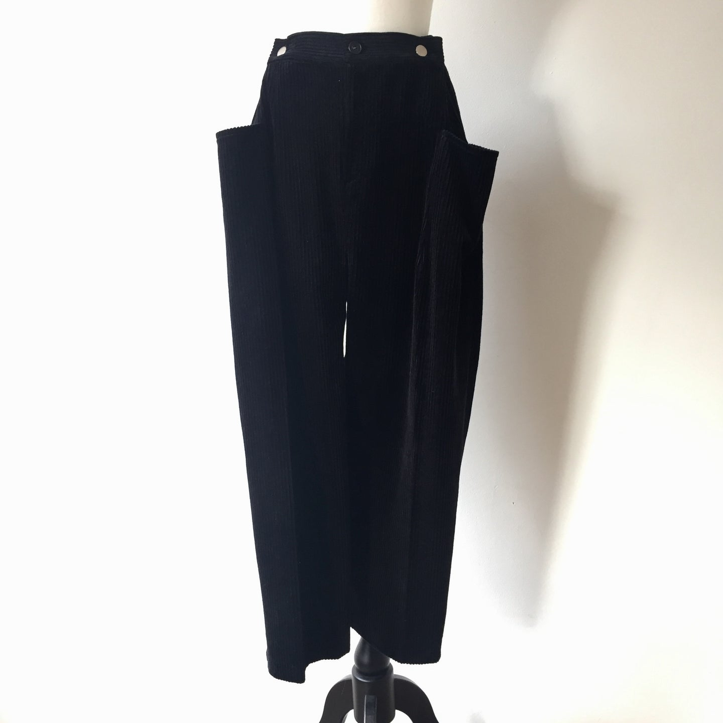 Corduroy front pockets trousers-Black-, Trousers, WondrousTheatre, WondrousTheatre,