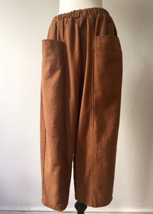 Front Pockets Cropped 2 buggy trousers-Camel, Trousers, WondrousTheatre, WondrousTheatre,