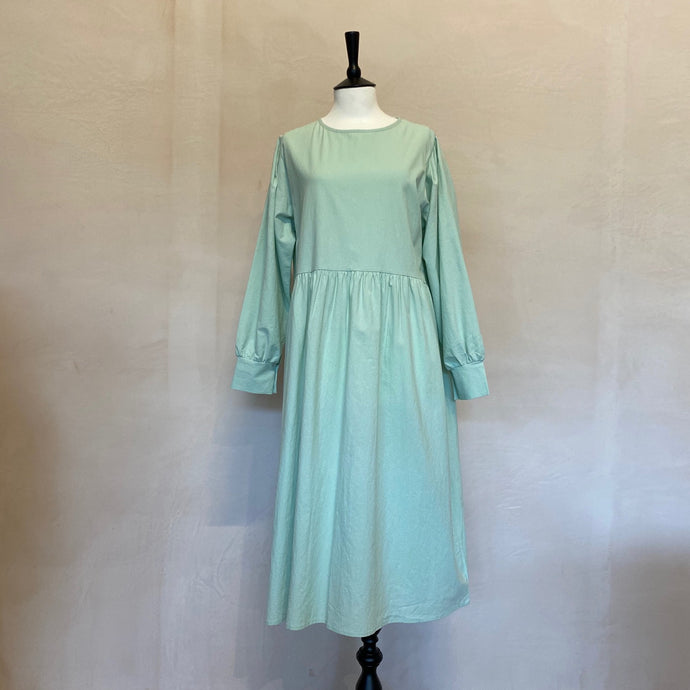 Pastel Cotton Peasant Long Sleeve dress