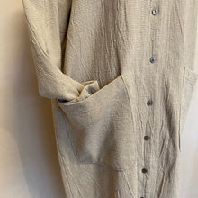 Button Down Mix string Coat -Ivory-