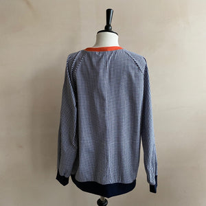 Chan Chan Cotton Gingham Top - Black & White