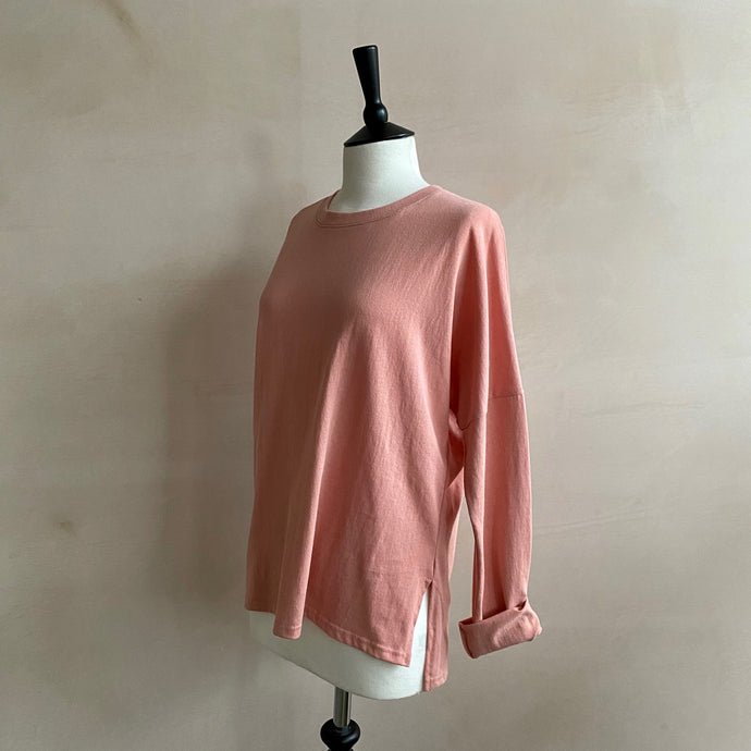 Spring Colour Long T-shirt -pink-