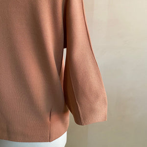 Puff sleeve Quoter sleeve top -Pink-
