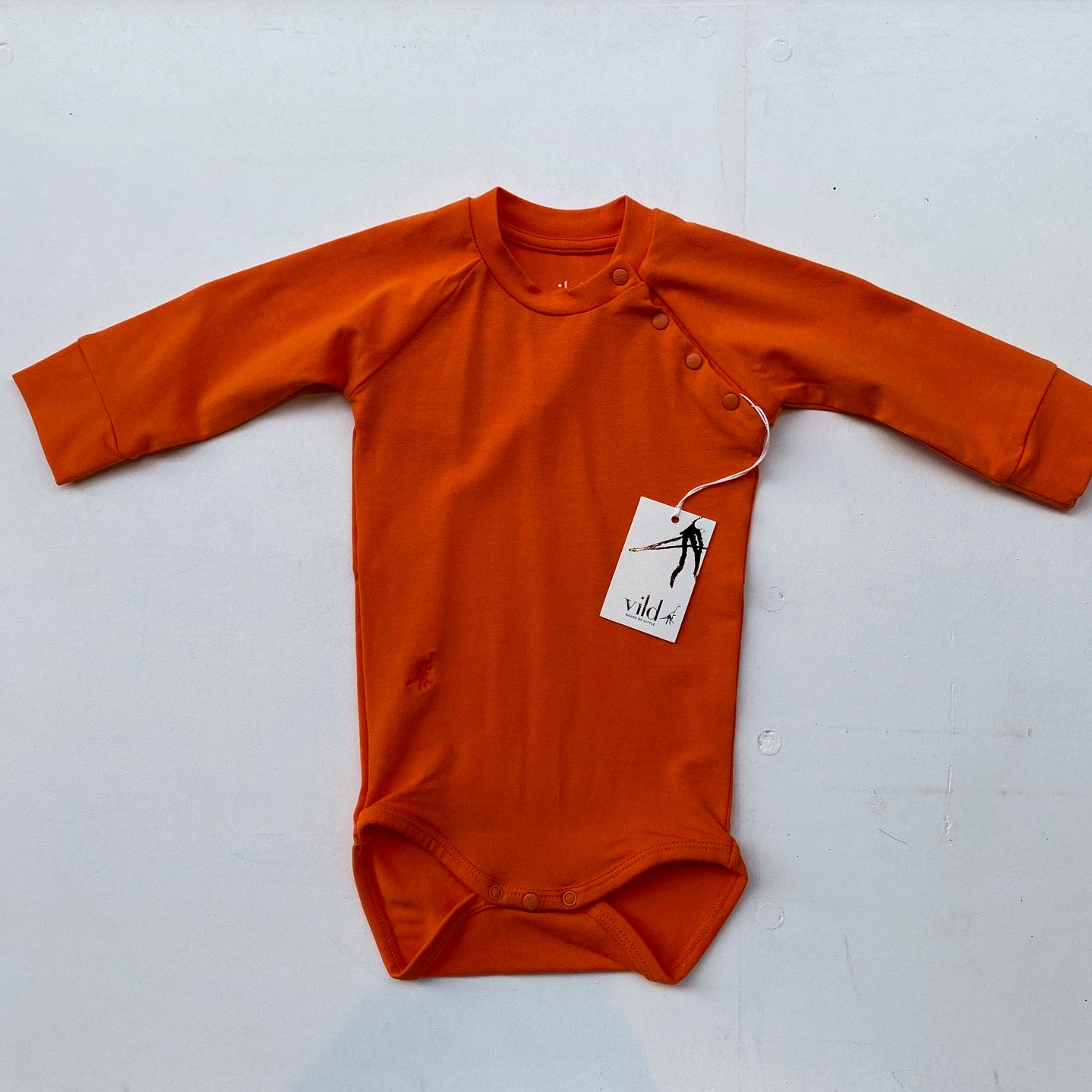 Bamboo LS Bodysuit -Orange-