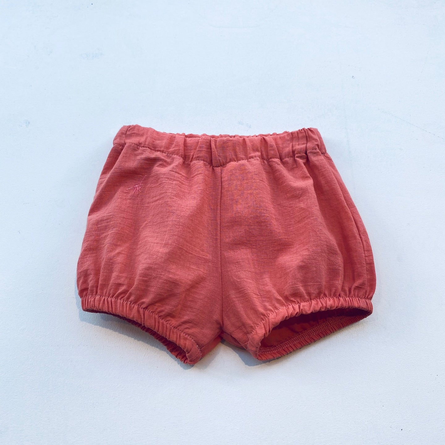 BLOOMER SHORTS WOVEN ORGANIC COTTON -CORAL-