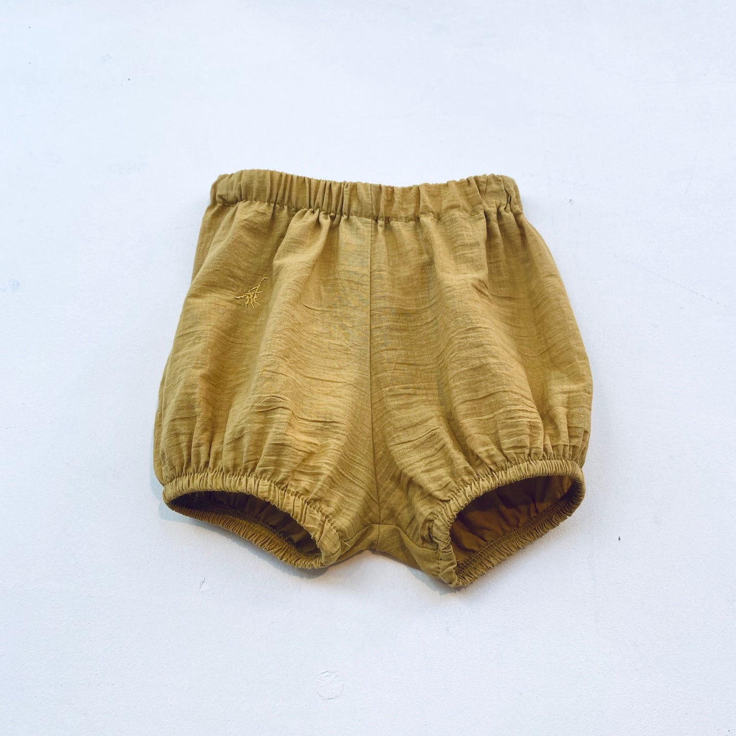 BLOOMER SHORTS WOVEN ORGANIC COTTON -Yellow-