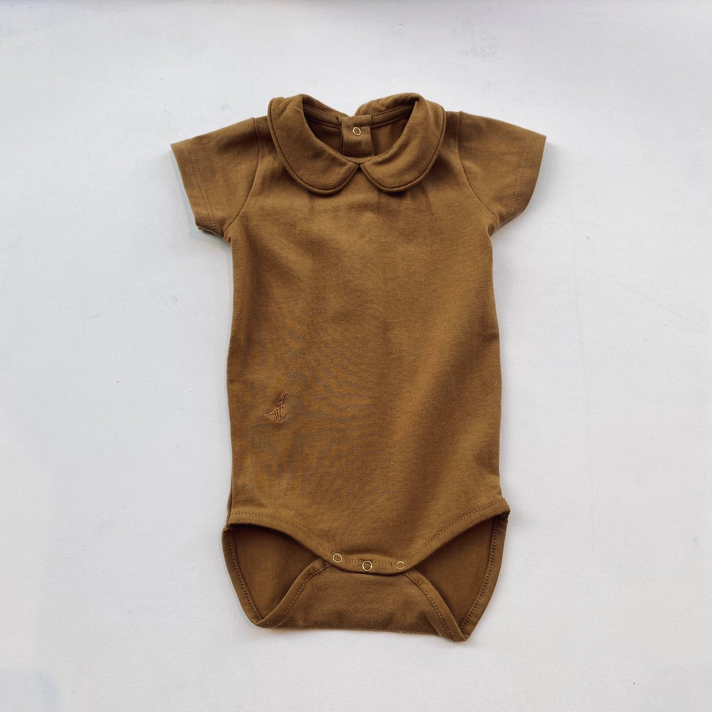 SS Collared Bodysuit -Camel-