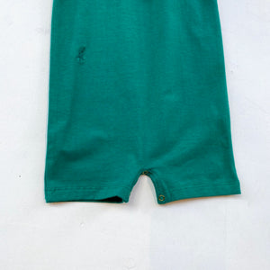 SS Collared Bodysuit with shorts -Green-