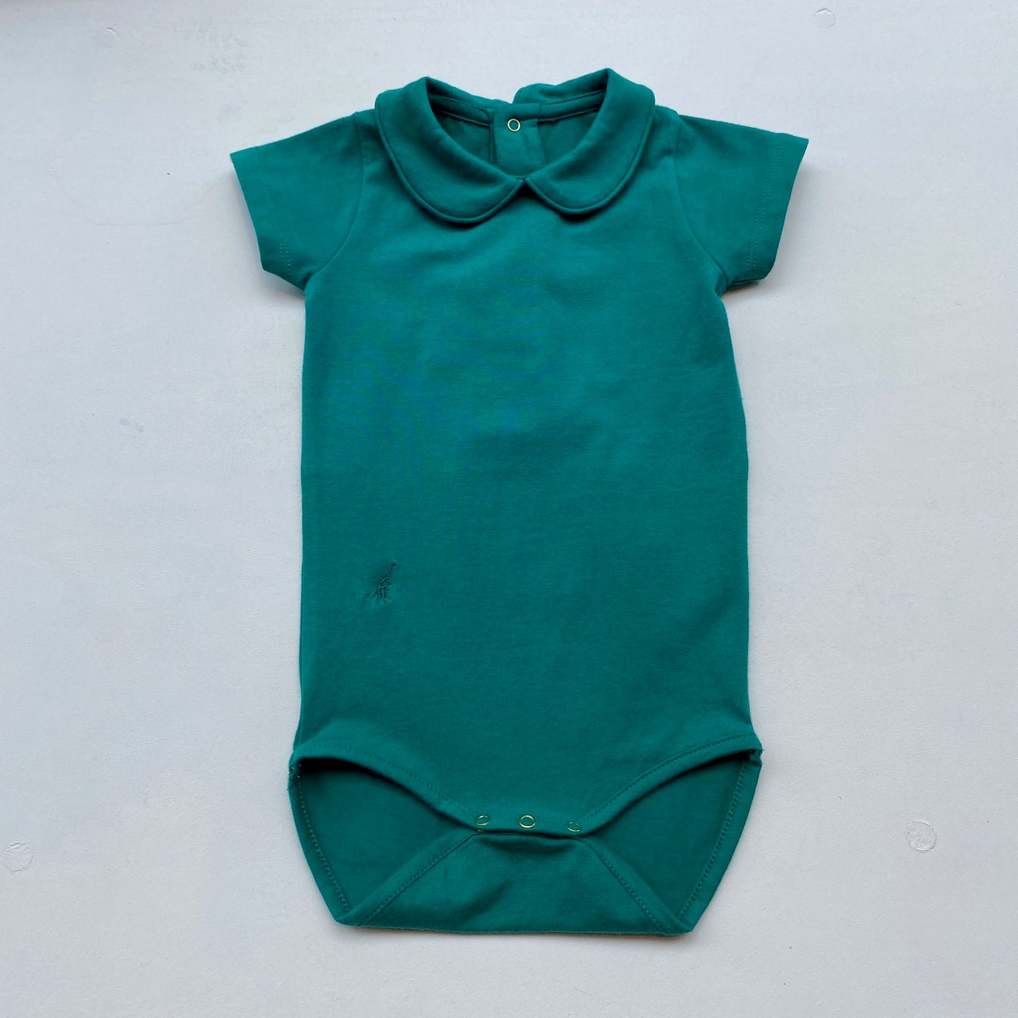 SS Collared Bodysuit -Green-