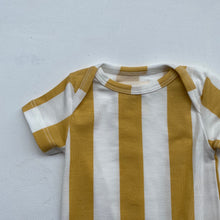 SS Body Suit Tencel -Yellow&White Stripe-