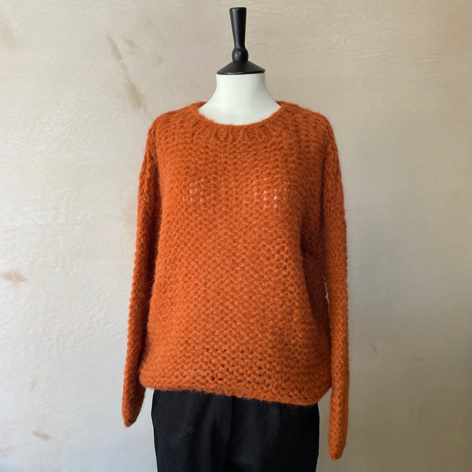 Michi Loop Alpaca Jumper -Ochre Orange-