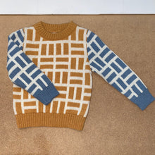 Alpaca knit wear Simon jumper jacquard Honey