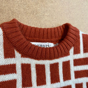Alpaca knit wear Simon jumper jacquard Brandy