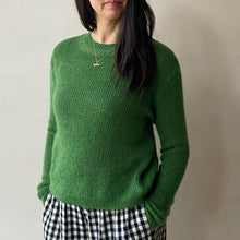Candy mohair knit -Green-