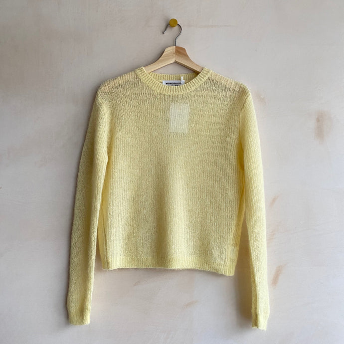 Candy mohair knit -Yellow-