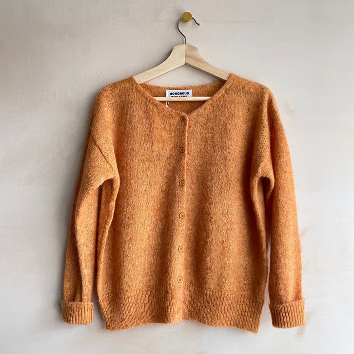 Mohair cardigan -Orange-