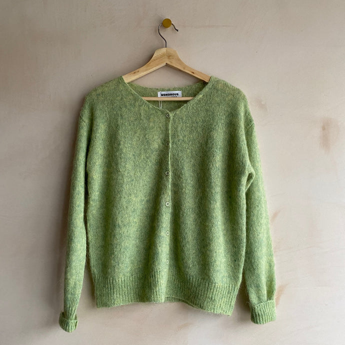 Mohair cardigan -Green-