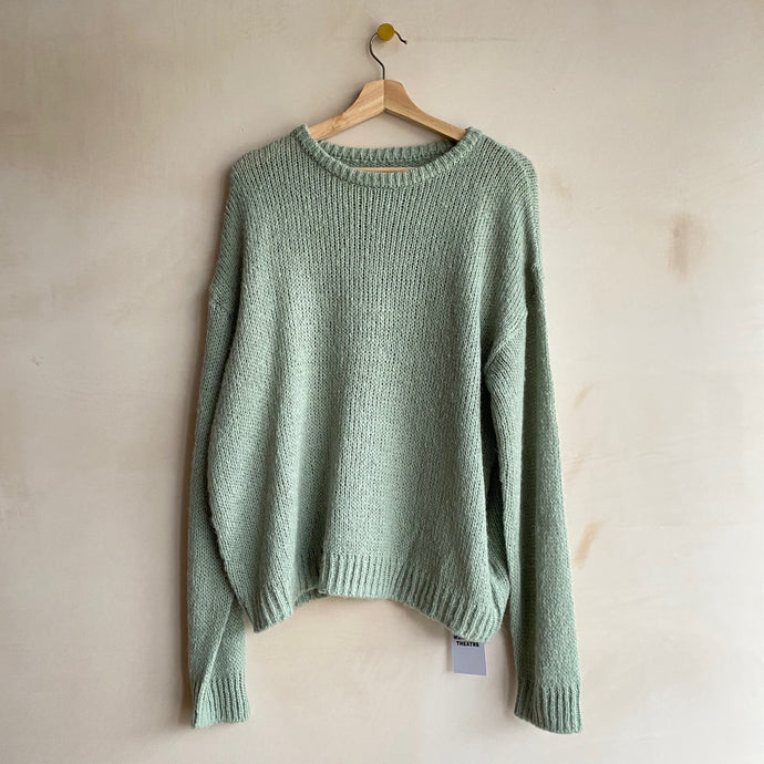 Round neck pastel Knit -Mint-
