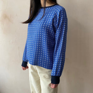 Chan Chan Circle pattern wool Jersey top