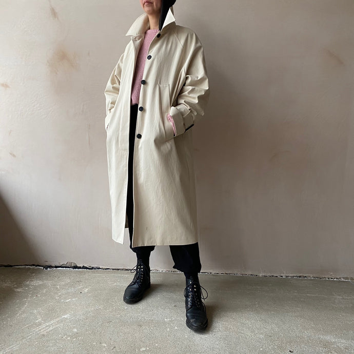 Single breasted trench coat -Ivory-
