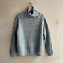 Double knit Polo neck -Light grey-