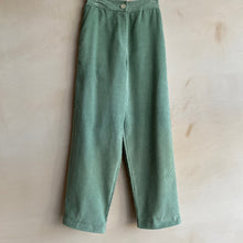Corduroy straight Trousers -Mint-