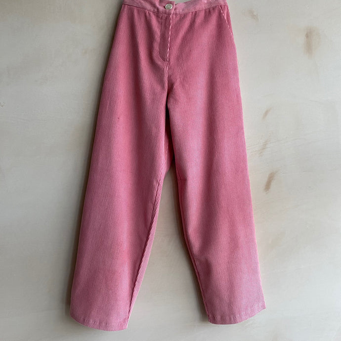 Corduroy straight Trousers -Pink-
