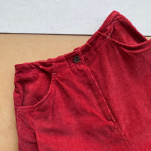 Super wide cropped Corduroy trousers -Red-