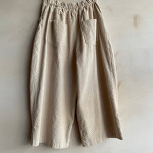 Super wide cropped Corduroy trousers -Ivory-
