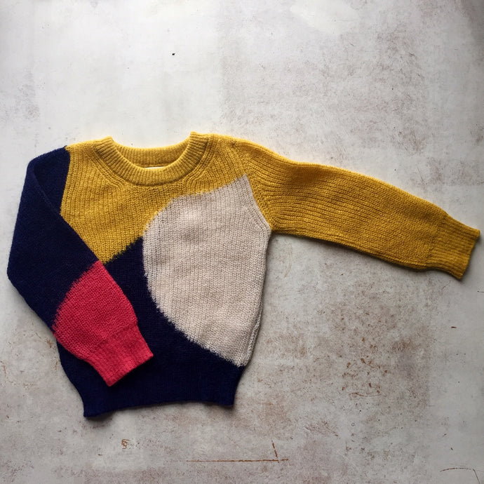 Alpaca knit wear Brooke intarsia knit crewneck-Lucifer(Yellow), Children clothes, aymara, WondrousTheatre,