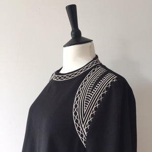 Embroidery high neck top, Tops, WondrousTheatre, WondrousTheatre,