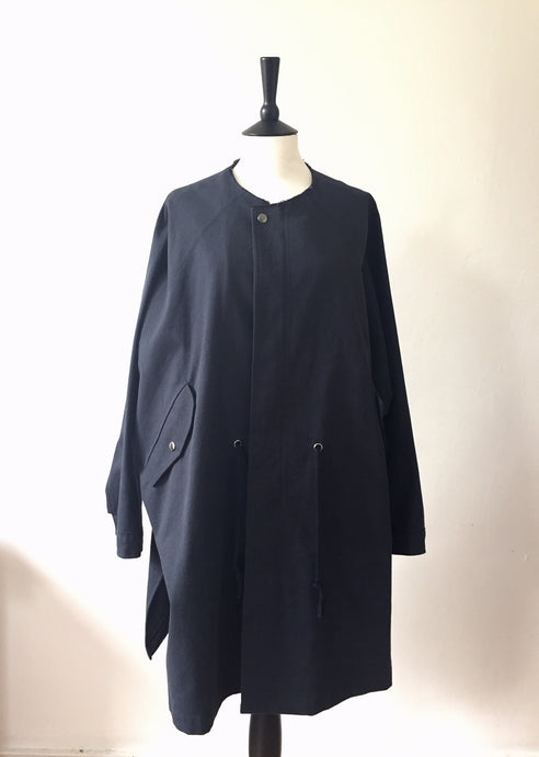 Everyday Cotton Parka-Navy, Coat, WondrousTheatre, WondrousTheatre,