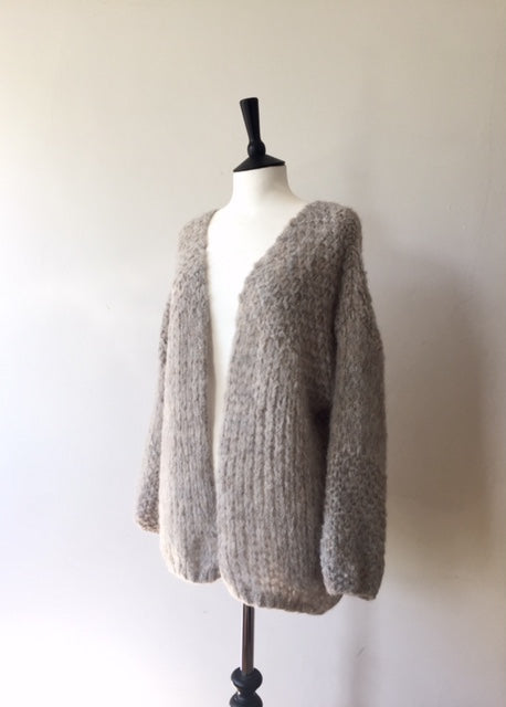 Alpaca hand knitted Pretty Loop Cardigan-Mix, knit wear, Michel&Hoven, WondrousTheatre,