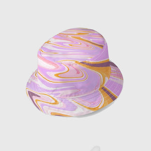 Groovy Stripe Bucket Hat in Purple