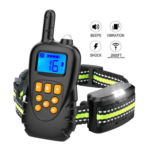 Dog Training Collar Rechargeable Waterproof W/Charger