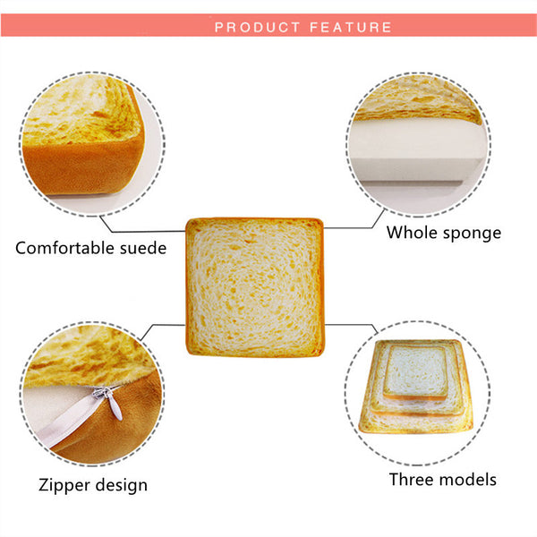 Fashion Toast Bread Slice Style Pet Mats