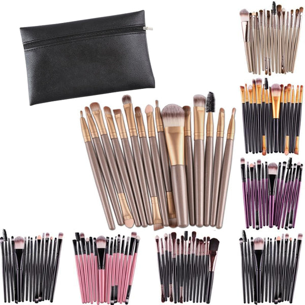 15Pcs Professional Makeup Brushes Set - Thejewellerystyle