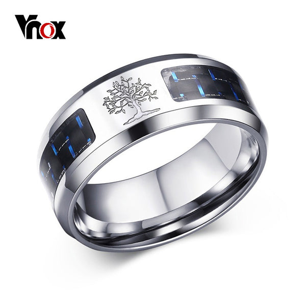 Vnox 8mm Carbon Fiber Ring For Man - Thejewellerystyle