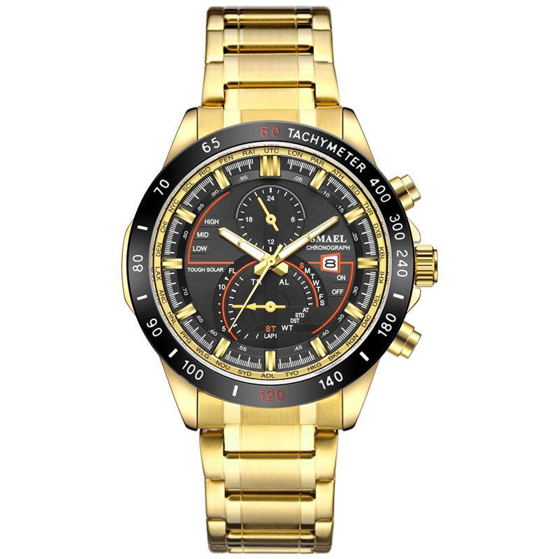 Smael SL-9062 Executive Watch - Gold
