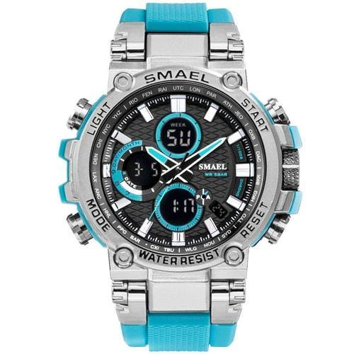 Smael Metal Light Blue Chronograph Watch-Smael South Africa-Smael South Africa