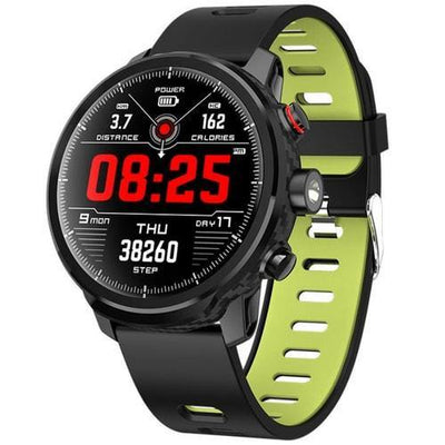 Microwear L5 Smart Watch Fitness Heart Rate Blood Pressure Carbon Fiber Sleep Monitor Step Counter IP68