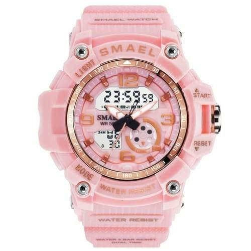 Kids Smael Light Pink Chronograph Watch-Smael South Africa-Smael South Africa