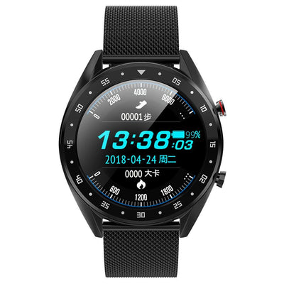 Microwear L7 Fitness/Smartwatch - Black Mesh - Smael South Africa