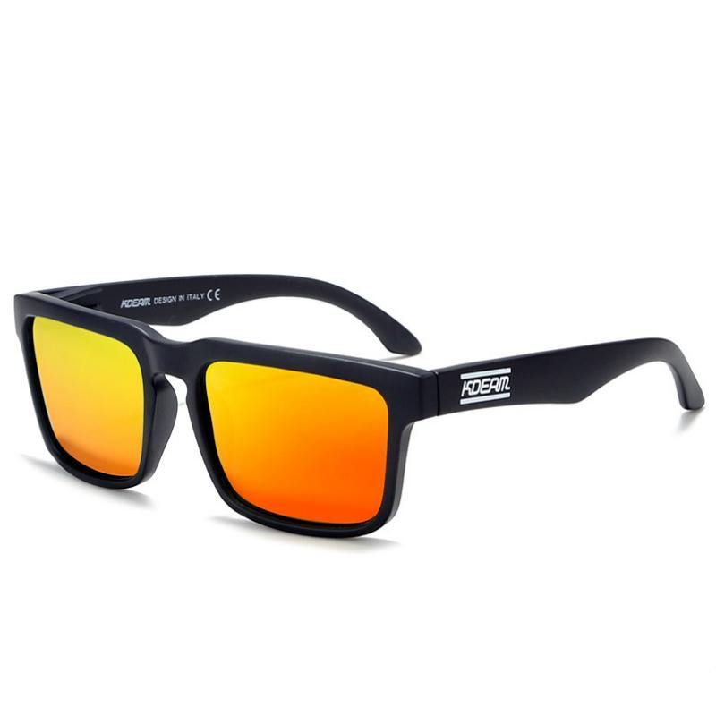 Kdeam KD901 Black/Orange Polarized Sunglasses-Smael South Africa-Smael South Africa