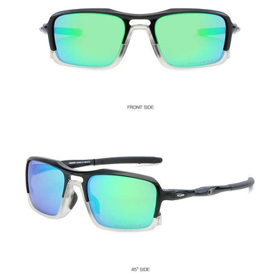 Kdeam KD222 TR90 Cycle Black/Green Polarized Sunglasses