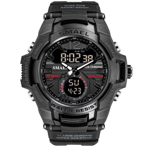 Smael Black Alloy Dual Time Watch - Smael South Africa