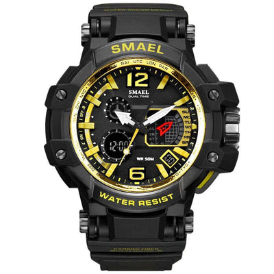 Smael 1509 Gold Chronograph Watch
